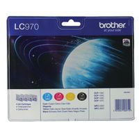 BROTHER INK CART LC970 KCMY