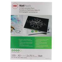 GBC A3 MATT POUCHES 150 MICRON PK100