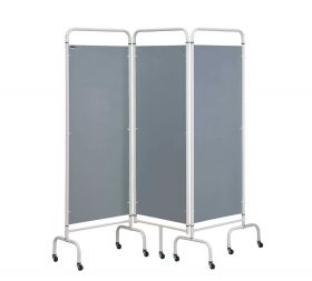 Three Panel Screen -  Silver