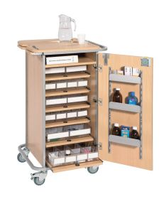 Unit Dosage System Drug Trolley - Small-Beech