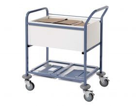 Records Transfer Trolley - Open-White