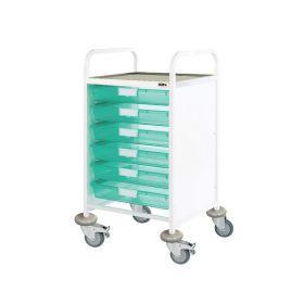 VISTA 50 Clinical Trolley - 6 Single Depth Trays-Green