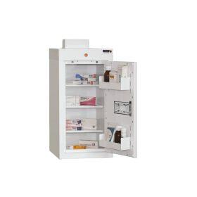 Medicine Cabinet, 3 shelves/2 door trays, 1 door