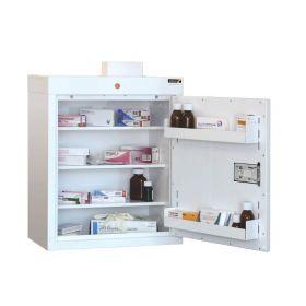 Medicine Cabinet, 3 shelves/2 door trays, 1 door Sun-MC2/WL