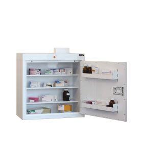 Medicine Cabinet, 3 shelves/2 door trays, 1 door Sun-MC3/WL