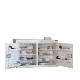 Medicine Cabinet, 6 shelves/4 door trays, 2 doors Sun-MC5/WL