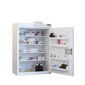 Medicine Cabinet, 4 shelves/4 door trays, 1 door
