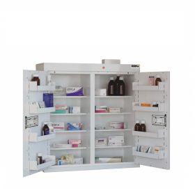 Medicine Cabinet, 8 shelves/8 door trays, 2 doors Sun-MC8/WL