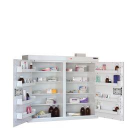 Medicine Cabinet, 8 shelves/8 door trays, 2 doors Sun-MC9/WL
