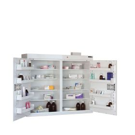 ??ontrolled Drug Cabinet, 8 shelves/8 trays, 2 doors, 2 locks