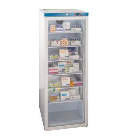300 Litre Free Standing, Glass Door Fridge - 6 Shelves-White