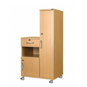Right Hand Bedside Cabinet Combination Unit with Locks, Manufactured from MFC Material
