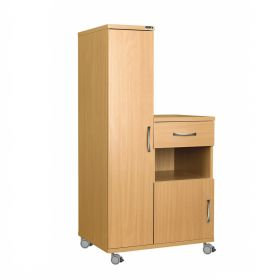 Left Hand Bedside Cabinet Combination Unit, Manufactured from Laminate Faced MDF Material
