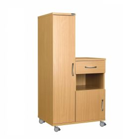 Left Hand Bedside Cabinet Combination Unit, Manufactured from MFC Material