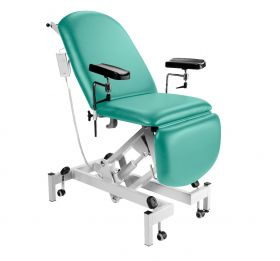 Fusion Phlebotomy Chair - Electric Height Adjustment, Gas Assisted Head & Foot Sections-Mint