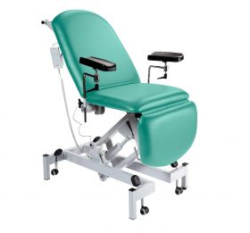 Fusion Phlebotomy Chair - Electric Height Adjustment, Electric Back & Foot Sections-Mint