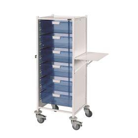 VISTA 120 Trolley – 6 double depth trays -Blue