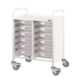 VISTA 60 Trolley - 12 Single Depth Trays-Clear