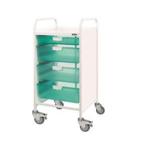 VISTA 55 Trolley - 1 Single / 3 Double Depth Trays-Green