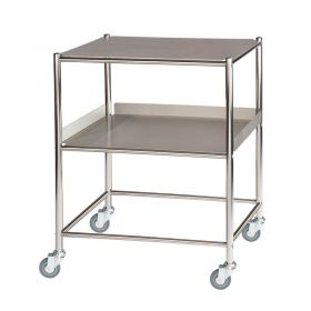 Surgical Trolley – 1 Stainless Steel Shelf & 1 Tray Sun-ST6S2SF