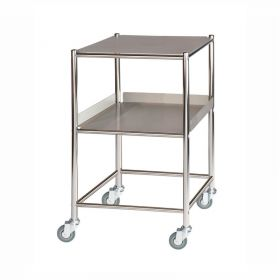 Surgical Trolley – 1 Stainless Steel Shelf & 1 Tray