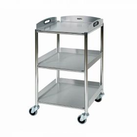 Surgical Trolley – 3 Stainless Steel Trays