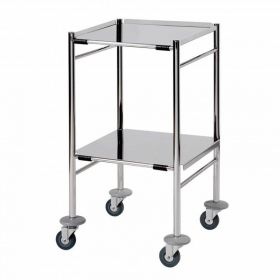 Surgical Trolley – 2 Removable Reversible Folded Shelves (flange up or down)