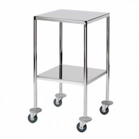 Surgical Trolley – 2 Fully Welded Fixed Shelves (flange down)