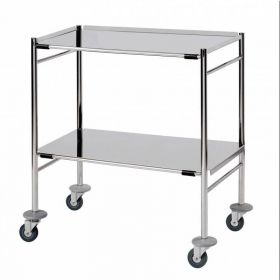 Surgical Trolley – 2 Removable Reversible Folded Shelves (flange up or down) Sun-STFW7-RRFS2