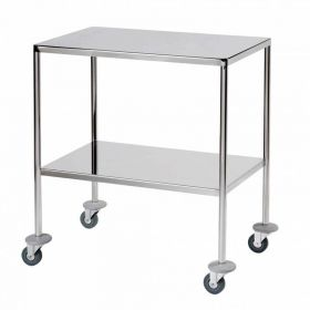 Surgical Trolley – 2 Fully Welded Fixed Shelves (flange down) Sun-STFW7-FFS2