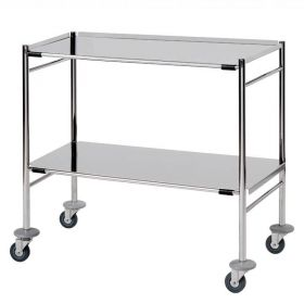 Surgical Trolley – 2 Removable Reversible Folded Shelves (flange up or down) Sun-STFW9-RRFS2