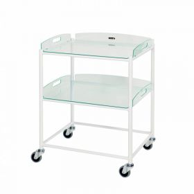 Dressing Trolley – 2 Glass Effect Safety Trays Sun-DT6G2