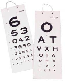 Keeler 2204-L-1096 3 Metres Distance Test Card Numerals Chart