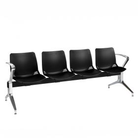 Neptune Visitor 4 Seat Module - 4 Black Moulded Seats