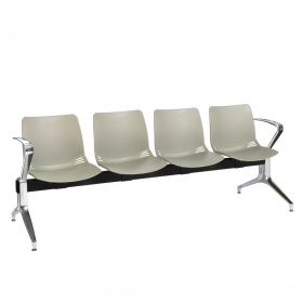 Neptune Visitor 4 Seat Module - 4 Grey Moulded Seats