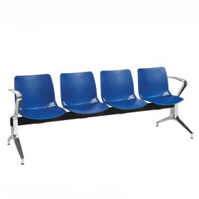 Neptune Visitor 4 Seat Module - 4 Blue Moulded Seats