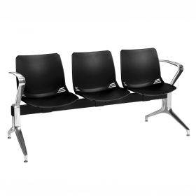 Neptune Visitor 3 Seat Module - 3 Black Moulded Seats