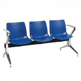 Neptune Visitor 3 Seat Module - 3 Blue Moulded Seats