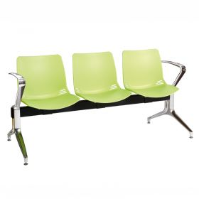 Neptune Visitor 3 Seat Module - 3 Green Moulded Seats