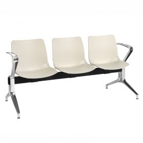 Neptune Visitor 3 Seat Module - 3 Ivory Moulded Seats