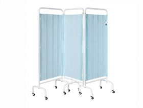 Three Section Screen/Disposable Curtain - Pastel Blue