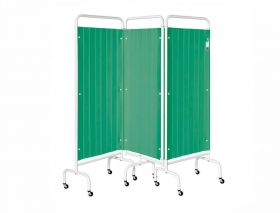 Three Section Screen/Disposable Curtain - Forest Green