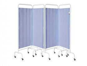 Four Section Screen/Disposable Curtain - Summer Blue