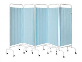 Five Section Screen/Disposable Curtain - Pastel Blue