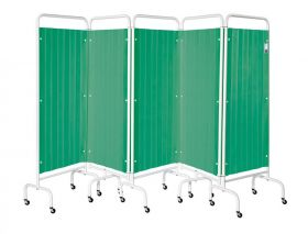 Five Section Screen/Disposable Curtain - Forest Green
