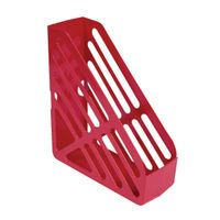 Q-CONNENT MAGAZINE RACK RED