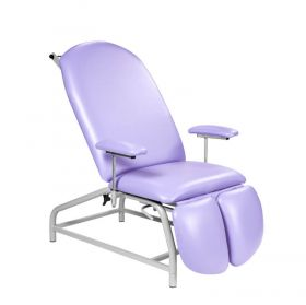 Fixed Height Treatment Chair with Adjustable Feet-Lilac