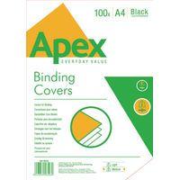 FELLOWES APEX LTHRBRD CVR BLK PK100