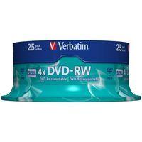 VERBATIM DVD-RW 4X NON PRINT 25