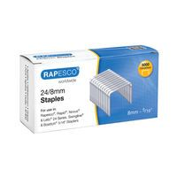 RAPESCO NO 24/8 METAL 8MM STAPLES